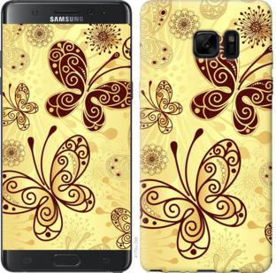Чехол на Samsung Galaxy Note 7 Duos N930F Красивые бабочки