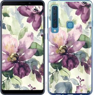 Чехол на Samsung Galaxy A9 (2018) Цветы акварелью