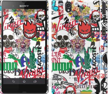 Чехол на Sony Xperia Z C6602 Many different logos