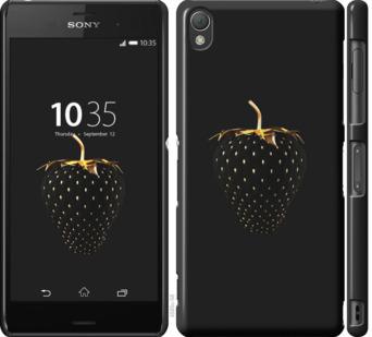 Чехол на Sony Xperia Z3 D6603 Черная клубника