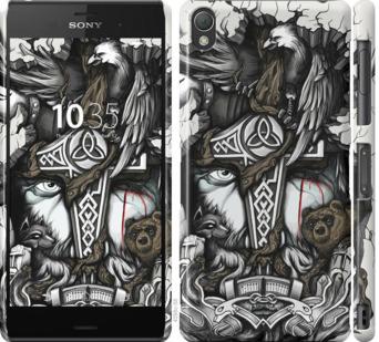 Чехол на Sony Xperia Z3 dual D6633 Тату Викинг