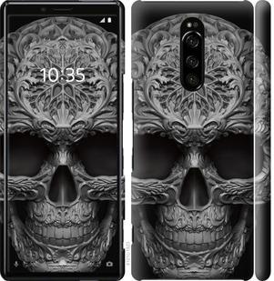 Чехол на Sony Xperia 1 J9110 skull-ornament