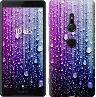 Чехол на Sony Xperia XZ2 H8266 Капли воды