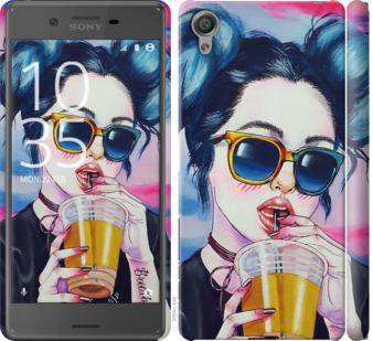 Чехол на Sony Xperia X F5122 Арт-девушка в очках