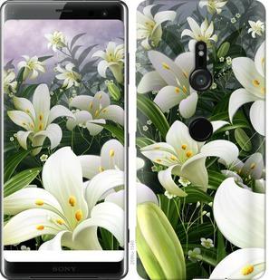 Чехол на Sony Xperia XZ3 H9436 Белые лилии