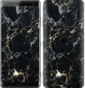 Чехол на Sony Xperia XZ3 H9436 Черный мрамор