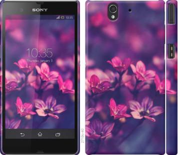 Чехол на Sony Xperia Z C6602 Пурпурные цветы