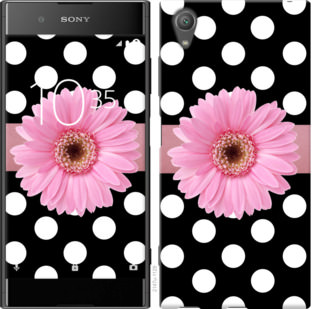 Чехол на Sony Xperia XA1 Plus G3412 Горошек 2