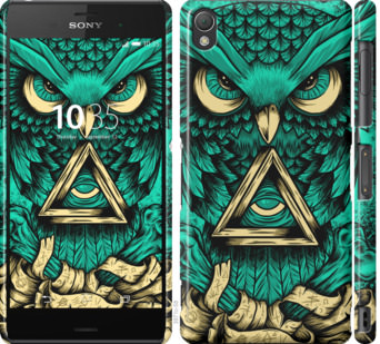 Чехол на Sony Xperia Z3 dual D6633 Сова Арт-тату