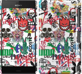 Чехол на Sony Xperia Z3 dual D6633 Many different logos