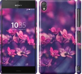 Чехол на Sony Xperia Z3 dual D6633 Пурпурные цветы