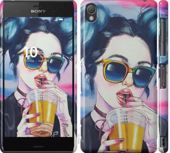 Чехол на Sony Xperia Z3 dual D6633 Арт-девушка в очках