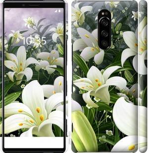Чехол на Sony Xperia 1 J9110 Белые лилии