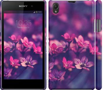 Чехол на Sony Xperia Z1 C6902 Пурпурные цветы