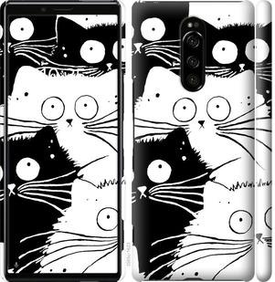 Чехол на Sony Xperia 1 J9110 Коты v2