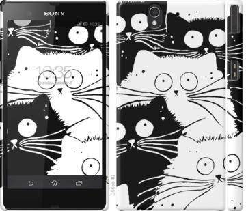 Чехол на Sony Xperia Z C6602 Коты v2
