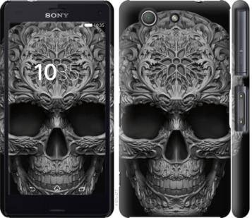 Чехол на Sony Xperia Z3 Compact D5803 skull-ornament