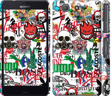Чехол на Sony Xperia Z3 Compact D5803 Many different logos