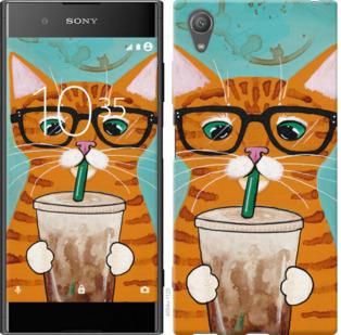 Чехол на Sony Xperia XA1 Plus G3412 Зеленоглазый кот в очках