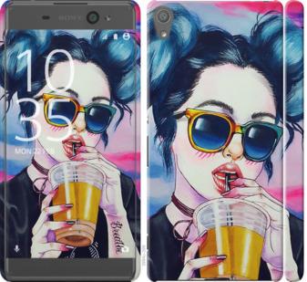 Чехол на Sony Xperia XA F3112 Арт-девушка в очках