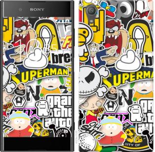 Чехол на Sony Xperia XA1 Plus G3412 Popular logos