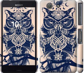 Чехол на Sony Xperia Z3 Compact D5803 Узорчатая сова