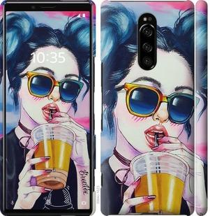 Чехол на Sony Xperia 1 J9110 Арт-девушка в очках