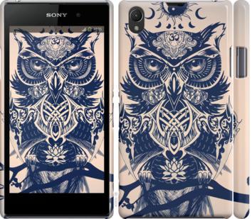 Чехол на Sony Xperia Z1 C6902 Узорчатая сова
