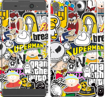 Чехол на Sony Xperia XA F3112 Popular logos