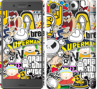 Чехол на Sony Xperia X F5122 Popular logos