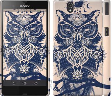 Чехол на Sony Xperia Z C6602 Узорчатая сова