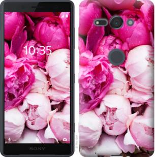 Чехол на Sony Xperia XZ2 Compact H8324 Розовые пионы
