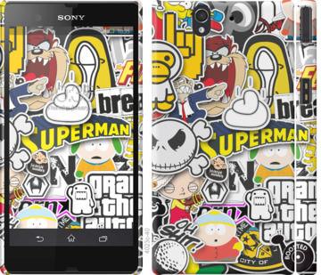 Чехол на Sony Xperia Z C6602 Popular logos
