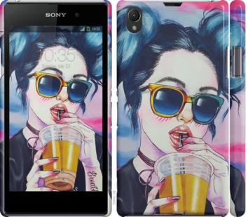 Чехол на Sony Xperia Z1 C6902 Арт-девушка в очках