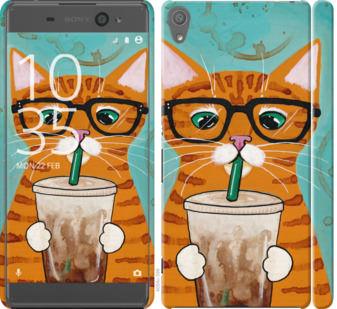 Чехол на Sony Xperia XA F3112 Зеленоглазый кот в очках