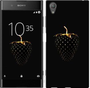 Чехол на Sony Xperia XA1 Plus G3412 Черная клубника