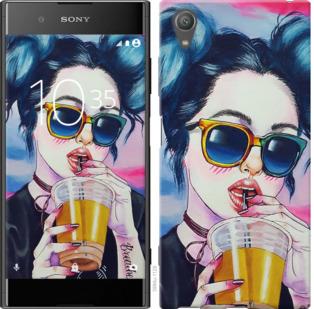 Чехол на Sony Xperia XA1 Plus G3412 Арт-девушка в очках