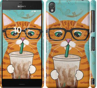 Чехол на Sony Xperia Z3 dual D6633 Зеленоглазый кот в очках
