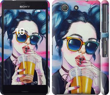 Чехол на Sony Xperia Z3 Compact D5803 Арт-девушка в очках