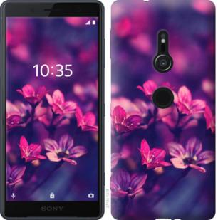 Чехол на Sony Xperia XZ2 H8266 Пурпурные цветы
