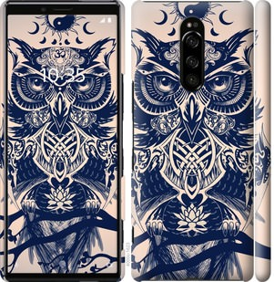 Чехол на Sony Xperia 1 J9110 Узорчатая сова