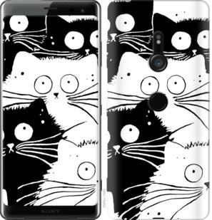 Чехол на Sony Xperia XZ3 H9436 Коты v2
