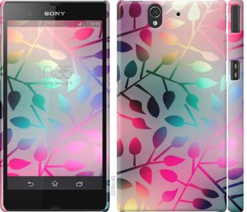 Чехол на Sony Xperia Z C6602 Листья