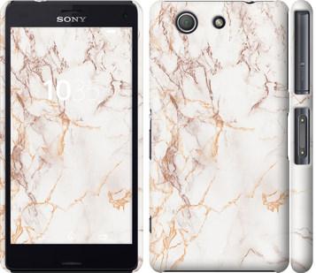 Чехол на Sony Xperia Z3 Compact D5803 Белый мрамор
