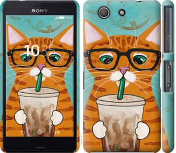 Чехол на Sony Xperia Z3 Compact D5803 Зеленоглазый кот в очках