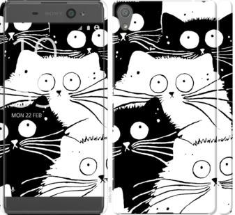 Чехол на Sony Xperia XA F3112 Коты v2