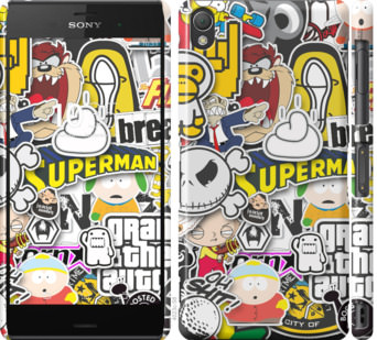 Чехол на Sony Xperia Z3 dual D6633 Popular logos