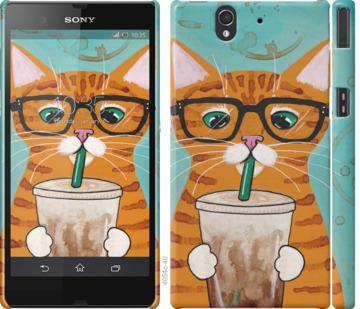 Чехол на Sony Xperia Z C6602 Зеленоглазый кот в очках