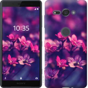 Чехол на Sony Xperia XZ2 Compact H8324 Пурпурные цветы