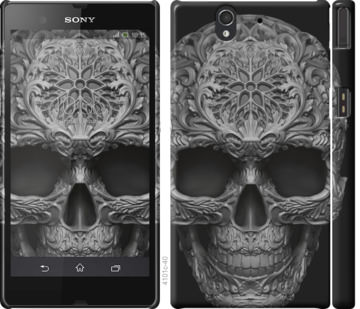 Чехол на Sony Xperia Z C6602 skull-ornament